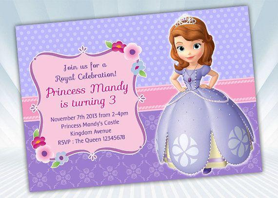 Princess Sofia Invitation by DigiPartyShoppe on Etsy, $6.00