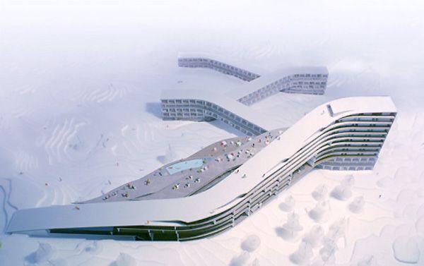 Ski resort to open in Norway, where you ski over/through/under the resort. Designed by Bjarke Ingles