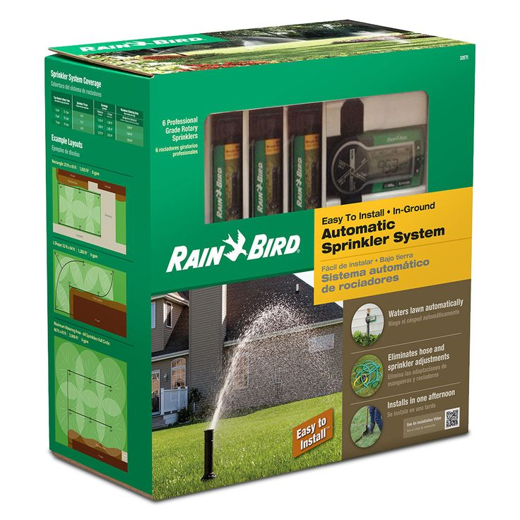 Rain Bird 32ETI Easy To Install Automatic Underground Sprinkler System,,,, for the homeowner to install