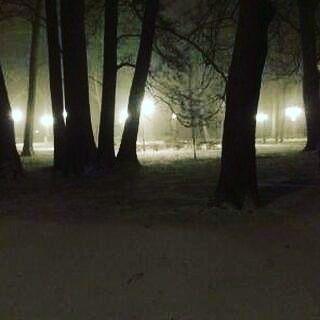 Nasz wiosenny park po 22.00 przypominał jakąś straszną krainę... @malwa_rp podesłała dzięki :)