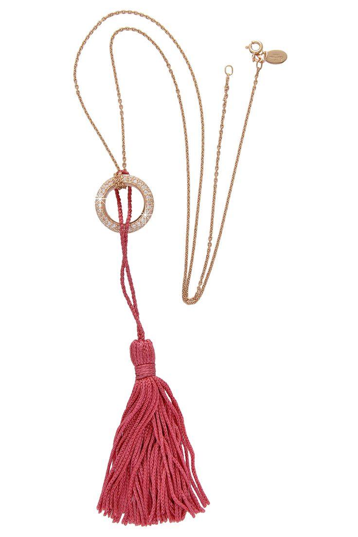 Deco Rose Tassel Necklace  / BABETTE WASSERMAN- so beautiful!