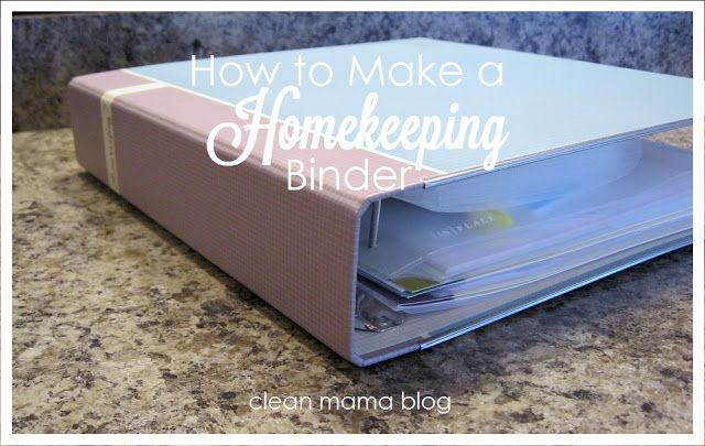 Taking a little time to set up a homekeeping binder can make the summer run more smoothly AND it'll be great for when school starts back up!  Clean Mama