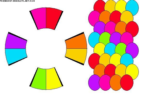 K144 - friendship-bracelets.net.                           8 strings / 8 colours