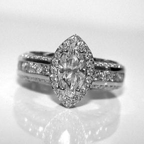 If i ever got a new ring.....10 anniversary perhaps  Marquise Engagement Ring from Oliver Smith Jeweler.