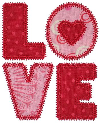 Free Applique Patterns | GG Designs Embroidery - FREE Love Applique (Powered by CubeCart)