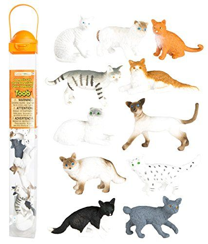 Safari Ltd. Domestic Cats Toob Hand Painted Toy Figurines...
