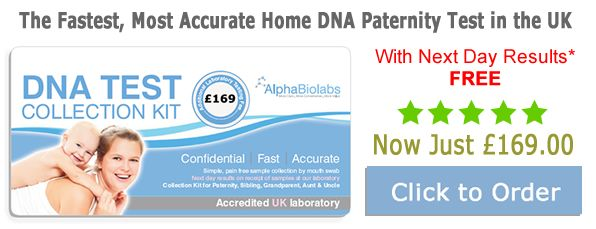 DNA paternity test kit from AlphaBiolabs