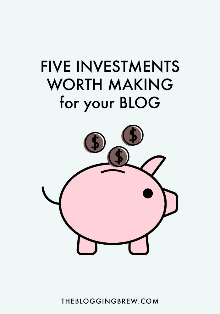 If you've decided to make your blog more than just a hobby, these investments are definitely worth making!