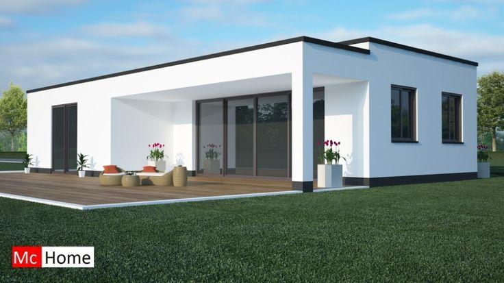 Mc-Home.nl B8 gelijkvloerse bungalow alles slaapkamer en badkamer beneden staalframebouw moderne bouw