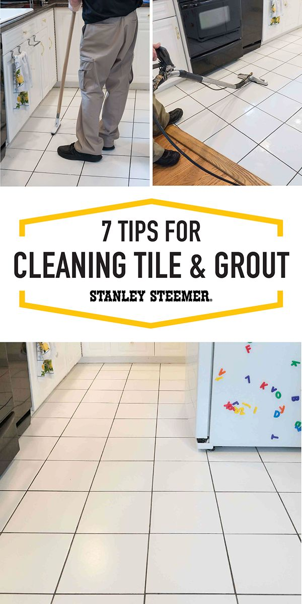 Muddy feet - and paws - seem to run around everywhere during summer. Get your home feeling fresh and new with help from Stanley Steemer and these 7 Tips For Cleaning Tile and Grout!