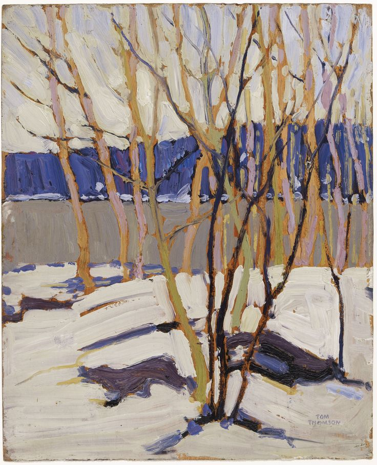 Tom Thomson Catalogue Raisonné | Evening, Early Spring, Winter 1916–17 (1916-1917.08) | Catalogue entry