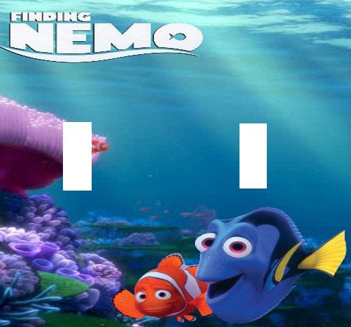 Finding nemo dory double light switch plate cover kids for Finding nemo bathroom ideas