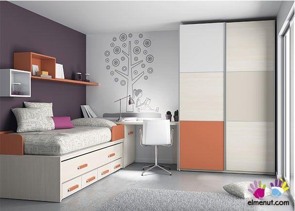 Mejores 53 im genes de mobiliario juvenil tonos naranja en for Mobiliario dormitorio juvenil