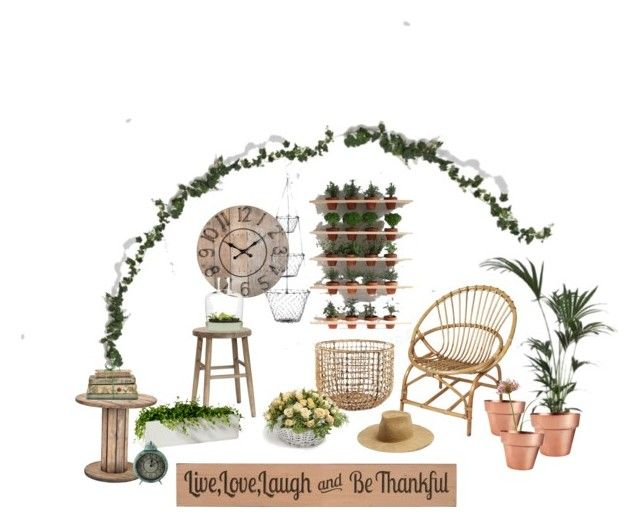"""""""Garden gnome"""" by amandalowenborg on Polyvore featuring interior, interiors, interior design, home, home decor, interior decorating, Hübsch, Korg, GALA and DutchCrafters"""