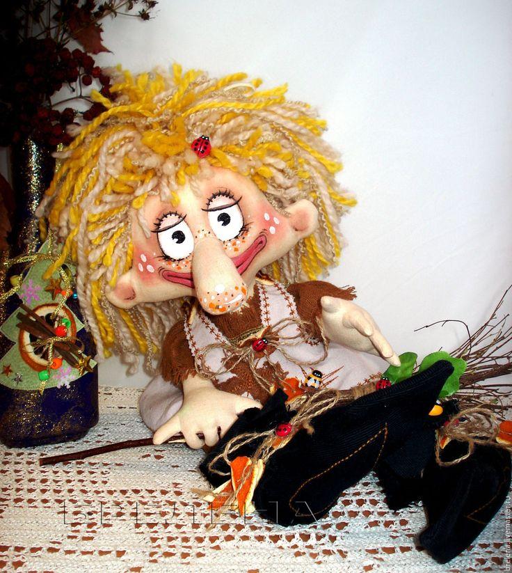 Купить Текстильная интерьерная кукла Маленькая БабаЁжка. - комбинированный, интерьерная кукла, купить текстильную куклу