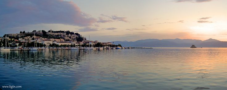 Sunset colors in the port of #Nafplio, #Greece