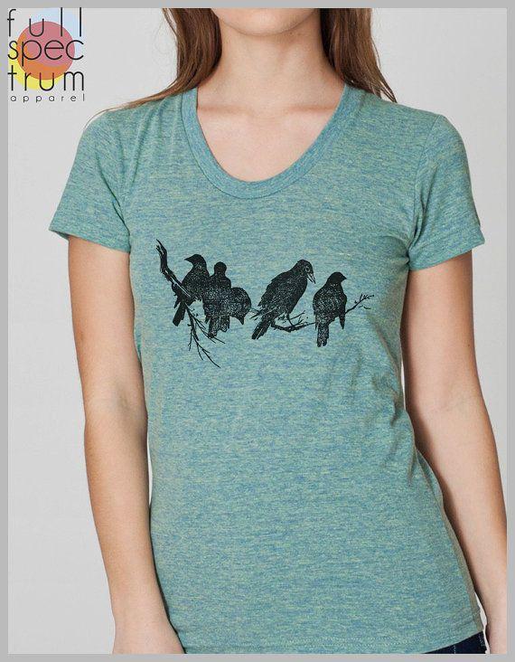 Women's T Shirt - Birds on a Limb
