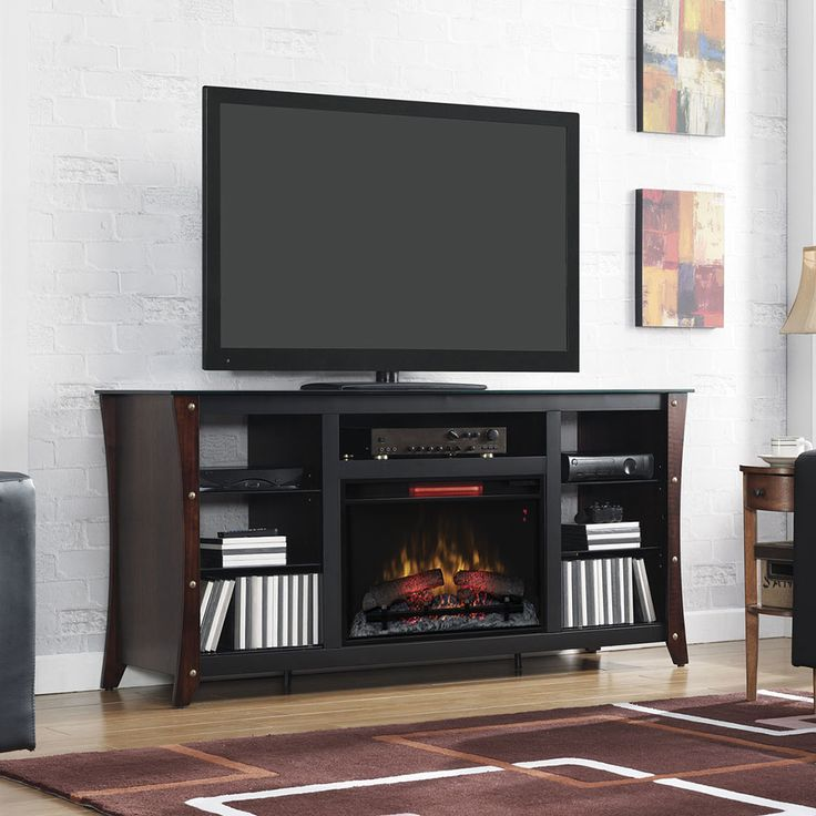 Marlin Infrared Electric Fireplace Media Cabinet in Midnight Cherry@ Electric  Fireplaces Direct.com - Ponad 1000 Pomysłów Na Temat: Electric Fireplaces Direct Na