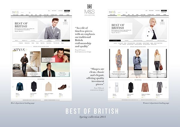 M&S.com - Marks & Spencer online portfolio on Behance