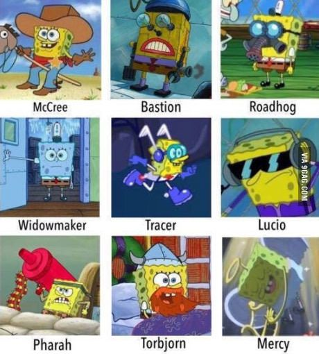 Spongebob in overwatch