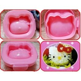 Hello kitty egg/rice mold   - Boil the eggs in salted water until cooked then peel the shells off.   - Place the hard boiled egg into the mold while the egg is still hot and soft   - Clip both molds and lock it in place together and place in bowl of cold water.   - Wait until the egg becomes cold.   - Once cold remove egg out of the mold and you have the Egg shaped as Hello Kitty!  Tips- Use week old eggs as they are easier to peel. large or extra large eggs required…