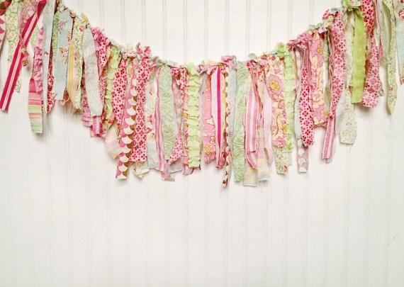 fabric rag garland prop: Rag Garland