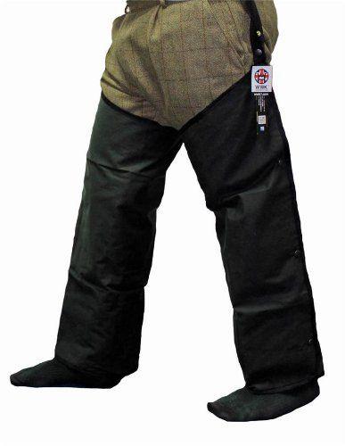 Mens Studded Wax Oiled Waxed Leggings Chaps Shooting Beating Hunting Fishing Walking Trouser WWK / WorkWear King, http://www.amazon.co.uk/dp/B00FO4G3OO/ref=cm_sw_r_pi_dp_aptusb0X53ZJW