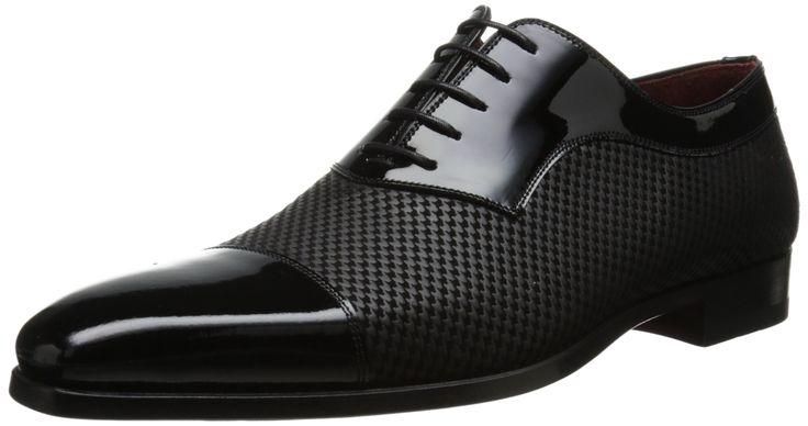 Magnanni Men's Tristan Tuxedo Oxford, Black - These shoes are badass