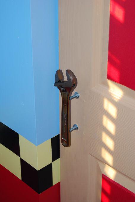 Tool door handles.  (furniture drawer pulls?)