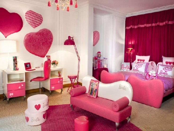 Homemade Barbie Furniture Ideas | Related Post from Ideas for a Girls Room. Love the heart decor