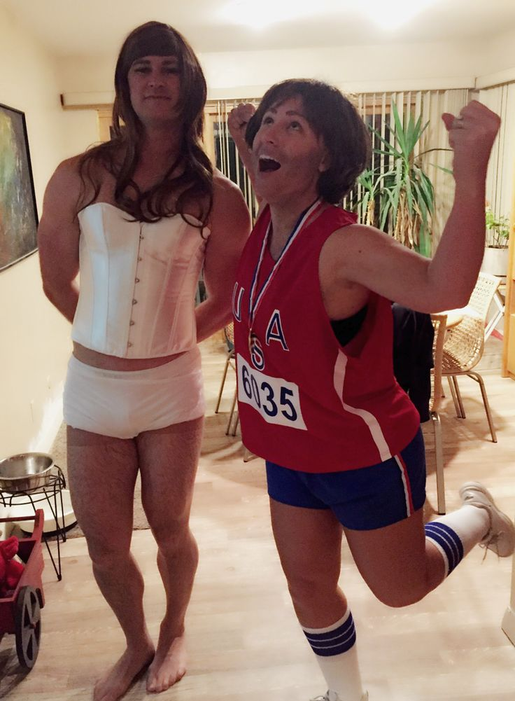 Caitlyn Jenner and Bruce Jenner Halloween 2015 costume