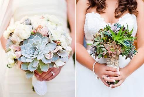 Bouquet da sposa di piante grasse Pagina 2 - Fotogallery Donnaclick