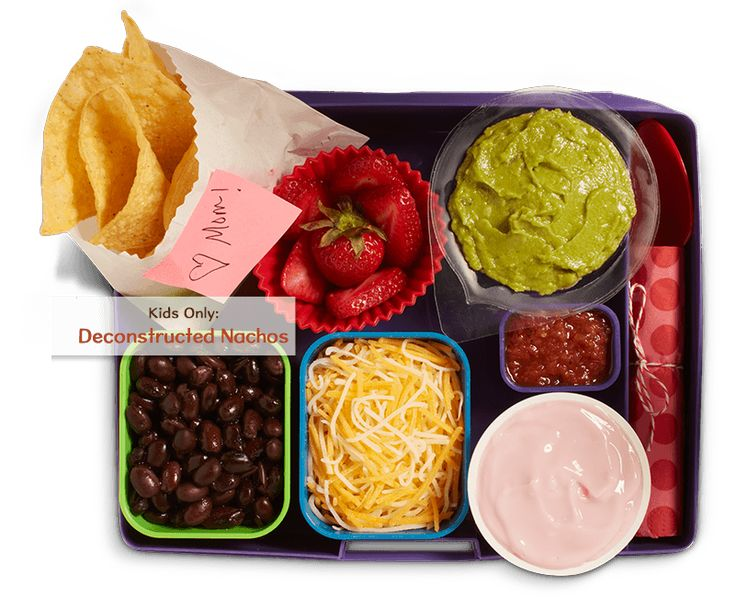 Wholly Guacamole minis Back to School Lunch- build your own nachos