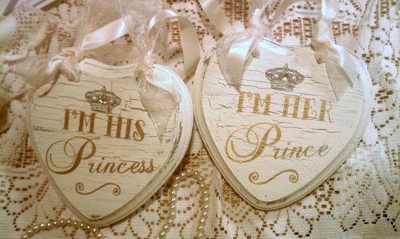 FAIRYTALE Wedding Sign Set, GOLD Wedding Crown, Crystals, Pearls Princess Sign Cinderella Wedding, Royal Wedding, Disney Wedding