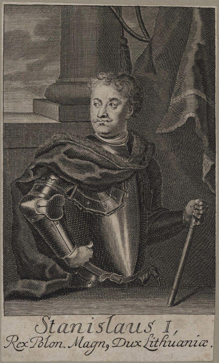 King Stanislaus I Leszczyński by Anonymous, 1710s (PD-art/old), Staatliche Graphische Sammlung München