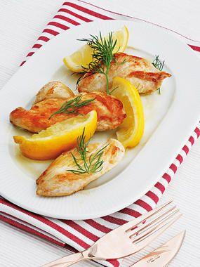 Pollo frito con limón