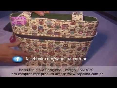 Bolsa Dia a Dia corujinha BDDC20 - YouTube