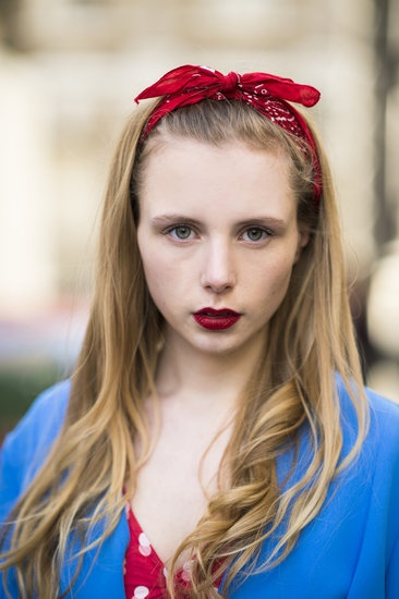London: Marie Jensen was the epitome of the modern pinup with her impossibly deep red lips and crimson bandana. Source: Le 21ème | Adam Katz Sinding