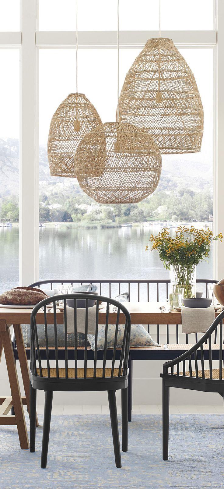 Large Rattan Pendant Lights Scandinavian Design In 2020 Scandinavian Design Living Room Pendant Lighting Dining Room Scandinavian Dining Room