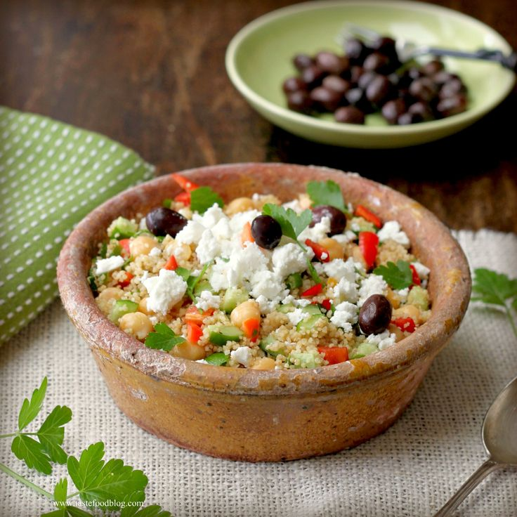 Cooking for your Health: Greek Couscous Salad: Salad Recipes, Greek Couscous Salad Tf1 Jpg, Healthy Salad, Cooking, Yummy, Recipes Salads, Healthy Recipes, Healthy Foods
