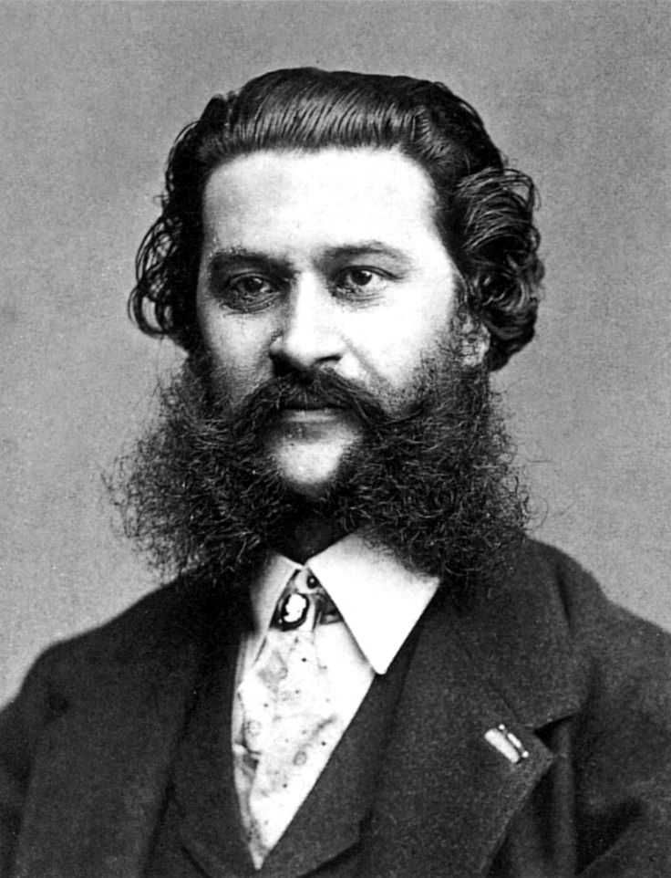 JOHANN STRAUSS THE YOUNGER: Viennese composer of The Blue Danube and Tales from the Vienna Woods. The sins committed by the King of the Waltz to end up not only at Satan's grand ball but also as conductor of the diabolical orchestra are not made clear. Maybe the devil didn't like his sideburns.