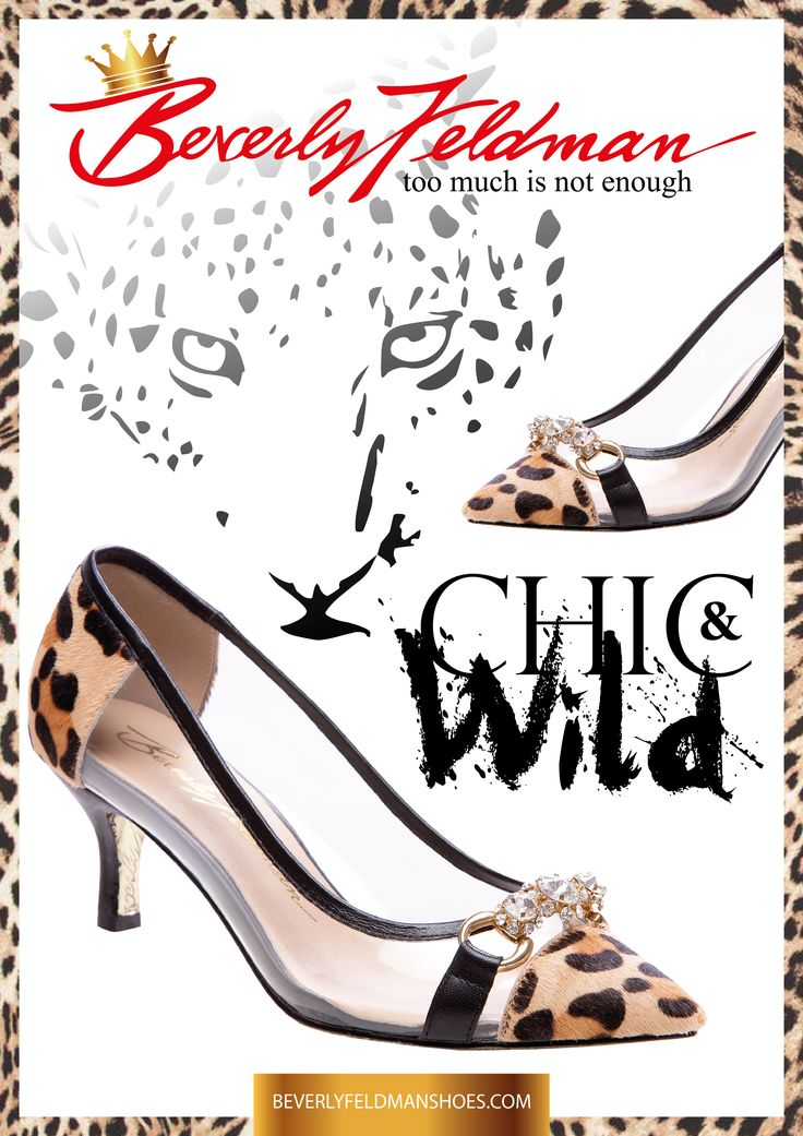 """Be careful of a woman who wears Leopard! She is strong, smart, sophisticated, and always stylish. I have taken my best seller Caliente and made it even sexier. Designed with the help of a beautiful Italian lady, named Paola we bring you Caliente Clear. On a clear day you see your future and know it will be great in Beverly Feldman shoes.""""Too Much Is Not Enough.""""  Buy it right here, right now: http://beverlyfeldmanshoes.com/theresa-may-shoes/caliente-clear.html"""