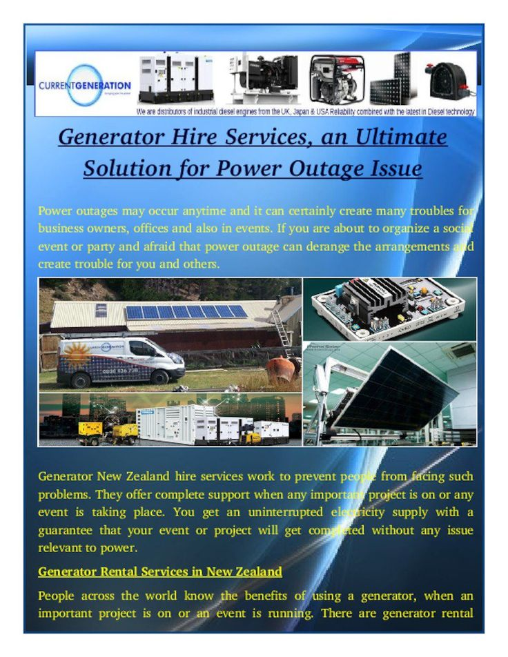 Generator New Zealand hire services offers reliable power supply. Service providers offer you different power generators. You can choose one that can produce sufficient electricity, according to your needs.