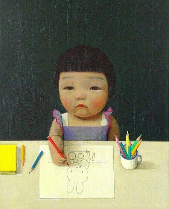 Small Painter, China, 2016, by Liu Ye.