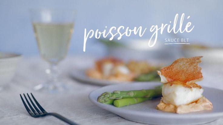 Poisson grillé, sauce BLT
