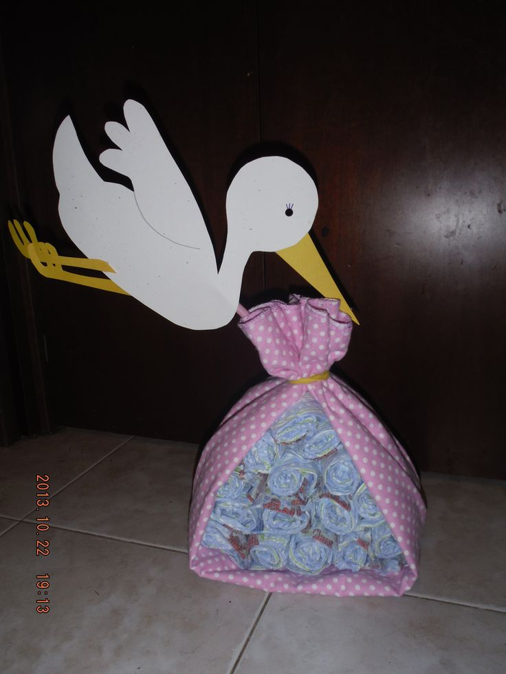 Baby Shower stork diaper cake bundle | Book Baby shower ...
