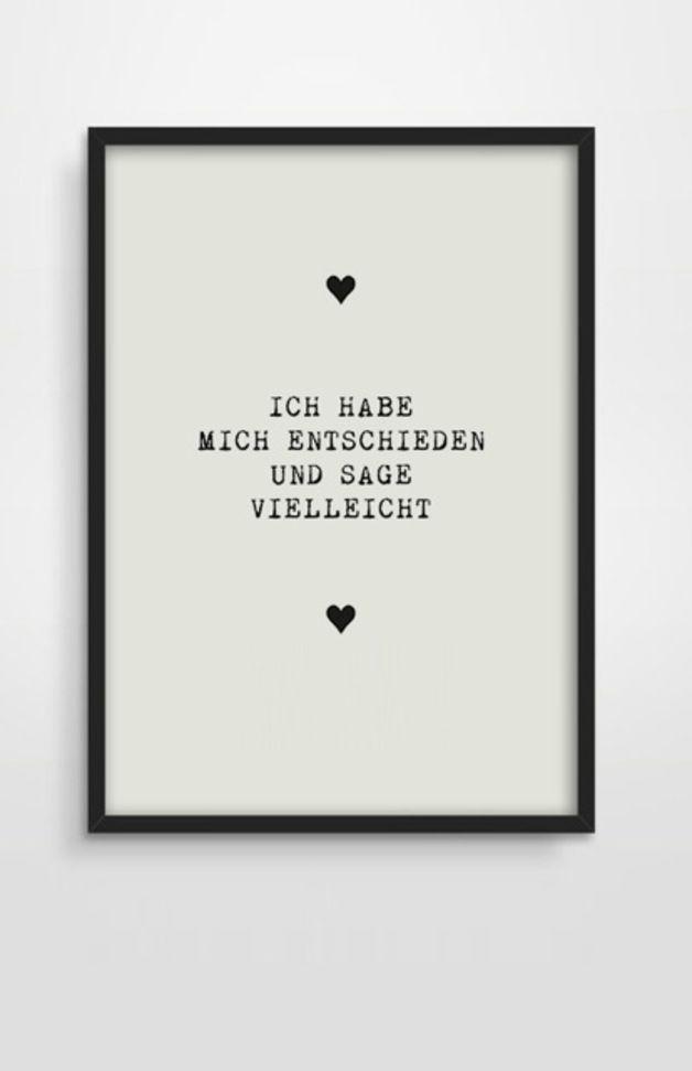 Typo Druck Poster // quote print via DaWanda.com