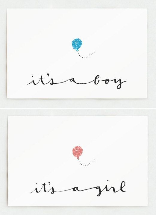 it's a Boy or it's a Girl by kathrynwhyte on Etsy, $3.50