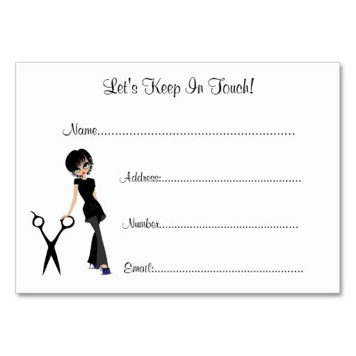 Beauty salon client information cards beauty business for Client sign in sheet template