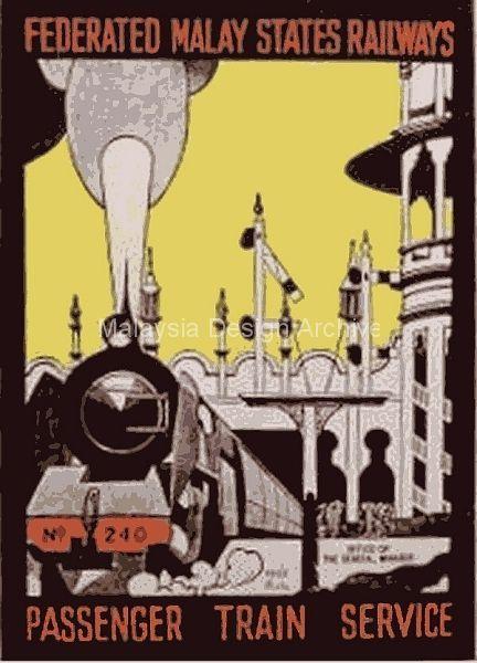 Old Ad - Federated Malay States Railways 1957